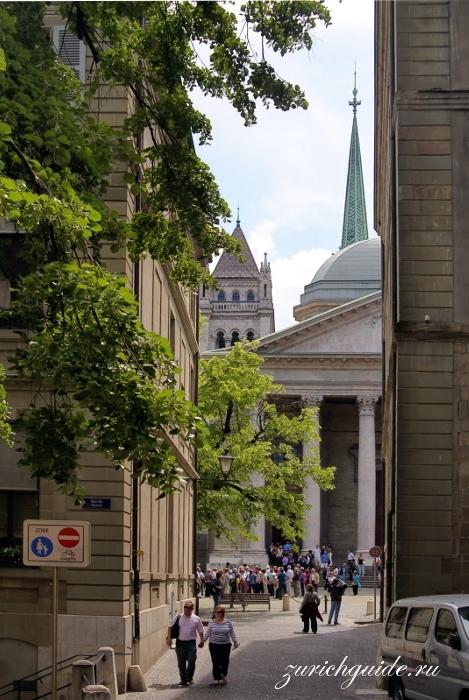 Туристический маршрут по Женеве с картой - путеводитель по Женеве. Главные достопримечательности Женевы, что посмотреть в Женеве, фото.