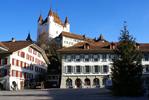 Thun (Тун), Швейцария - достопримечательноси, путеводитель по городу Берн (Bern), Швейцария - путеводитель по городу. Туристический маршрут по Берну с картой, достопримечательности Берна.