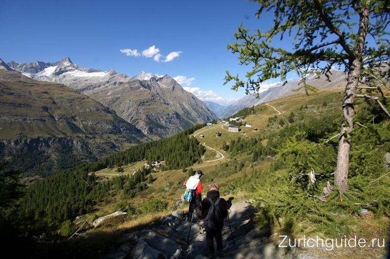 Маршрут Марка Твена - Riffelberg - Riffelalp (Церматт), Швейцария - описание, фото маршрута. Путеводитель по Швейцарии, хайкинг в Швейцарии - пешие маршруты