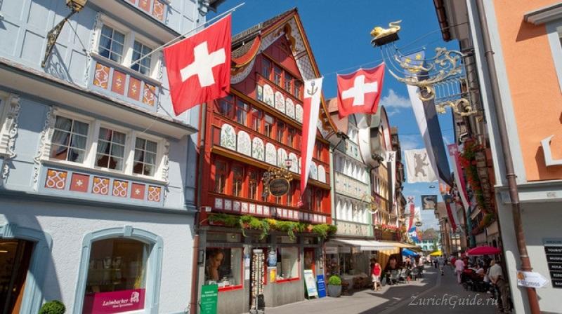 appenzell-3 Аппенцель (Appenzell), Швейцария - путеводитель по городу от ZurichGuide.ru, фото. Как добраться в Аппенцель, что посмотреть в Аппенцеле, кухня Аппенцеля