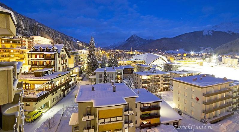 Davos-5 Давос (Davos), Швейцария - путеводитель по городу Давос. Достопримечательности и музеи Давоса, что посмотреть в Давосе, фото. Горнолыжный курорт Давос