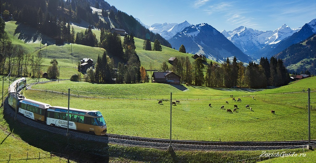 Goldenpass Бриенц (Brienz), Швейцария, в окрестностях Интерлакена - путеводитель по Бриенцу, круизы по озеру Бриенц, гора Brienzer Rothorn, водопад Giessbach
