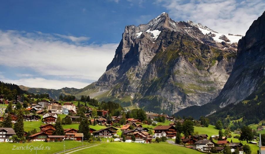 Grindelwald-8 Горнолыжный курорт Гриндельвальд (Grindelwald), Швейцария - как добраться, транспорт из аэропорта Цюриха и Женевы, фото, горнолыжные трассы, что посмотреть