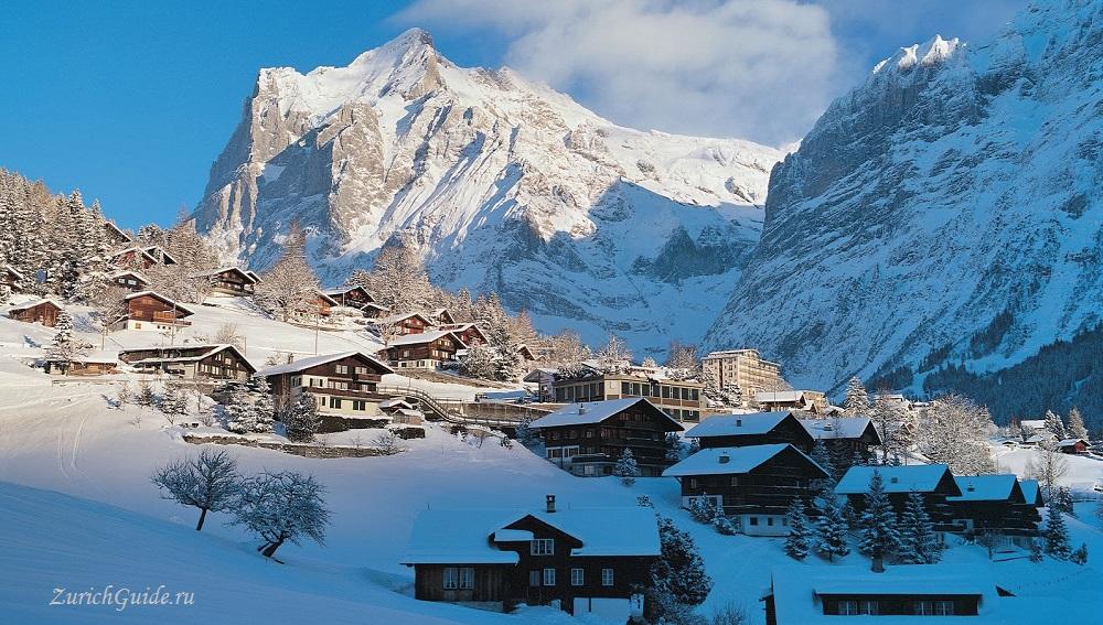 Grindelwald-10 Горнолыжный курорт Гриндельвальд (Grindelwald), Швейцария - как добраться, транспорт из аэропорта Цюриха и Женевы, фото, горнолыжные трассы, что посмотреть