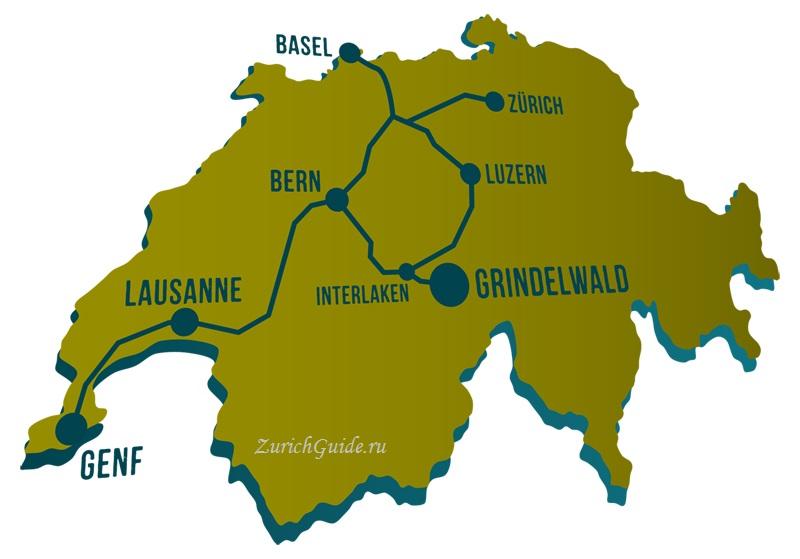 Grindelwald-5 Горнолыжный курорт Гриндельвальд (Grindelwald), Швейцария - как добраться, транспорт из аэропорта Цюриха и Женевы, фото, горнолыжные трассы, что посмотреть