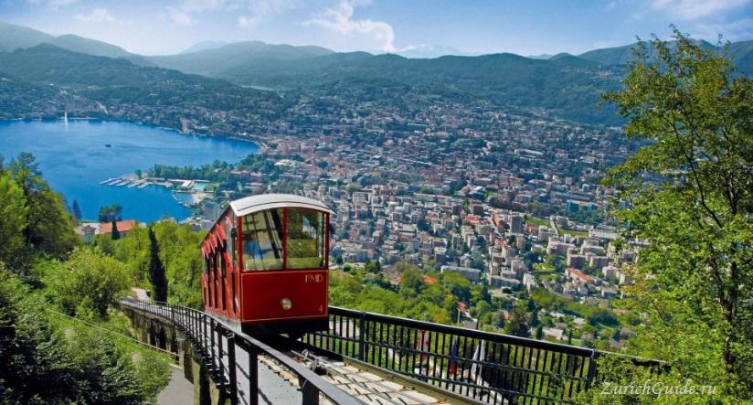 lugano-monte-bre Лугано (Lugano), Швейцария - путеводитель по городу Лугано, достопримечательности Лугано, что посмотреть, как добраться, фото Лугано. Туристический марщрут