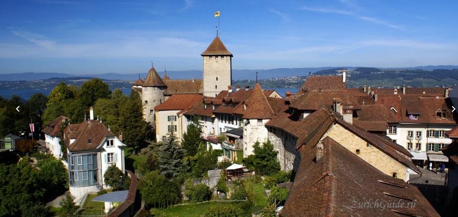 Murten-2 Муртен (Murten), Швейцария - путеводитель по городу, достопримечательности Муртена. Как добраться - расписание, стоимость. Фото Муртена, карта. Замок Муртен Муртен (Murten) или Морат (Morat)