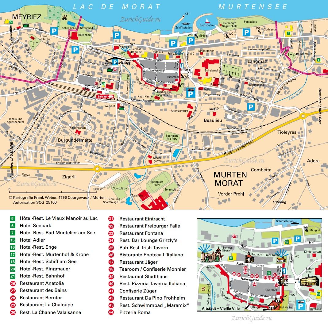 Murten-map карта Муртен