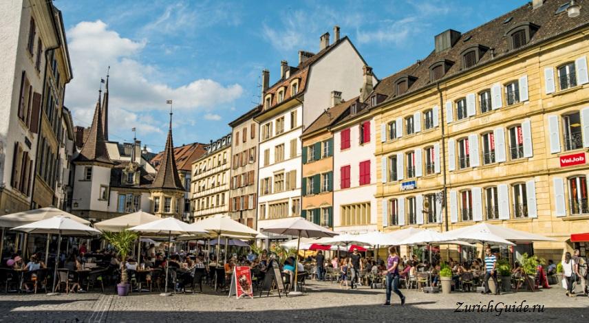 Neuchatel-3 Невшатель (Neuchatel), Швейцария - путеводитель по городу, достопримечательности Невшателя. Как добраться - расписание, стоимость. Карта Невшателя. Вокруг