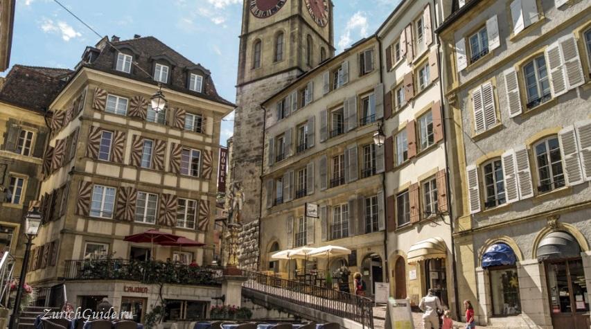 Neuchatel-9 Невшатель (Neuchatel), Швейцария - путеводитель по городу, достопримечательности Невшателя. Как добраться - расписание, стоимость. Карта Невшателя. Вокруг