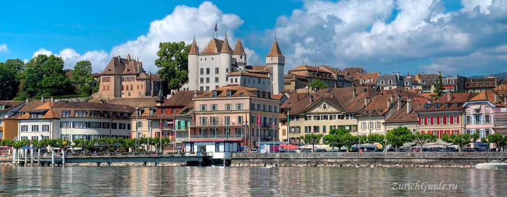 Nyon-2 Ньон (Nyon), Швейцария, в окрестностях Женевы. Путеводитель по городу Ньон, достопримечательности Ньона, туристический маршрут. Что посмотреть, сэкономить