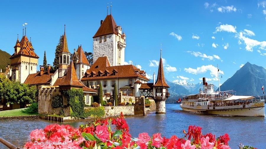 Oberhofen-900px Тун (Thun), Швейцария - что посмотреть в Туне, достопримечательности, замок Туна, фото. Маршрут по Туну. Как добраться - расписание, стоимость. Вокруг Туна