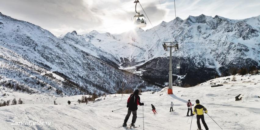 Saas-Fee-3 Горнолыжный курорт Саас-Фе или Зас-Фе (Saas Fee), Швейцария - как добраться из аэропорта, стоимость, ски-пассы, карта склонов. Что посмотреть в Саас-Фе