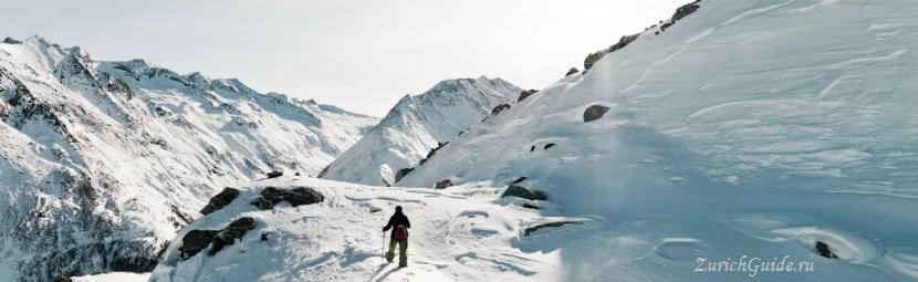 Saas-Fee-8-winter-wandern Горнолыжный курорт Саас-Фе или Зас-Фе (Saas Fee), Швейцария - как добраться из аэропорта, стоимость, ски-пассы, карта склонов. Что посмотреть в Саас-Фе