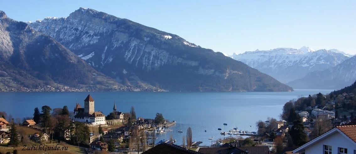 Spiez-2 Тун (Thun), Швейцария - что посмотреть в Туне, достопримечательности, замок Туна, фото. Маршрут по Туну. Как добраться - расписание, стоимость. Вокруг Туна