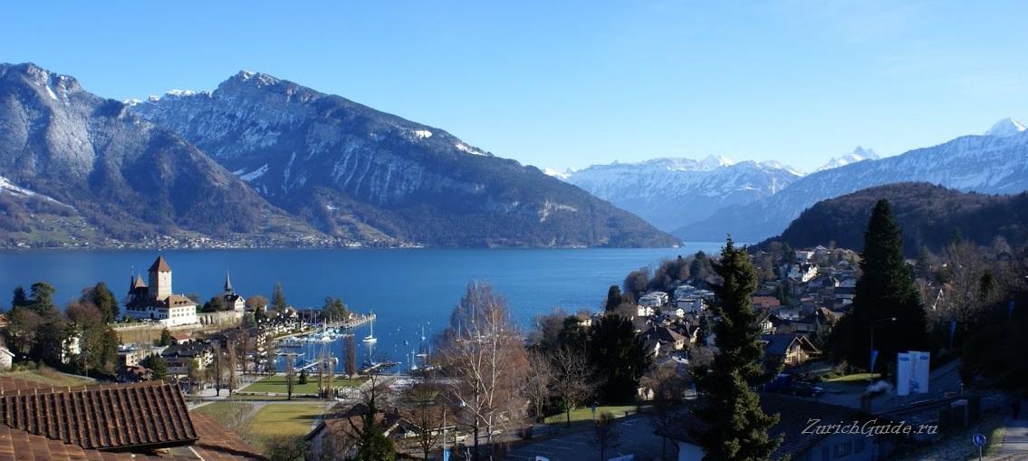 Тунское озеро (Озеро Тун (Thunersee), Швейцария) - городок Шпиц