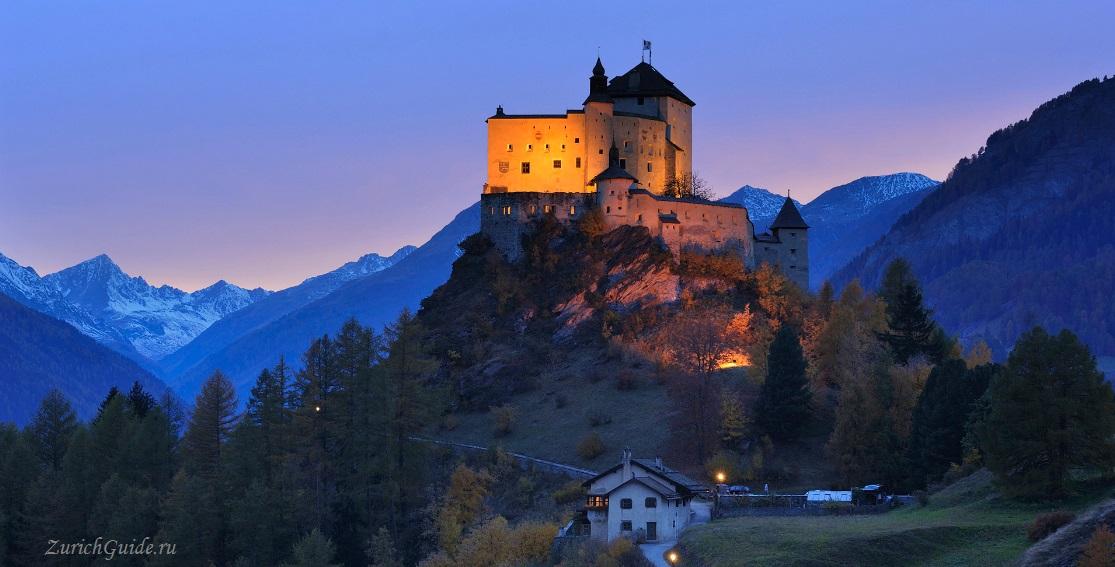 Тарасп (Tarasp), Швейцария, кантон Граубюнден, замок Тараспа