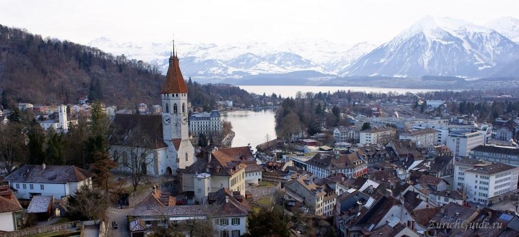 Thun-14 Тун (Thun), Швейцария - что посмотреть в Туне, достопримечательности, замок Туна, фото. Маршрут по Туну. Как добраться - расписание, стоимость. Вокруг Туна