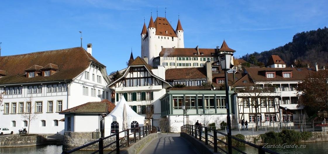 Thun-3 Тун (Thun), Швейцария - что посмотреть в Туне, достопримечательности, замок Туна, фото. Маршрут по Туну. Как добраться - расписание, стоимость. Вокруг Туна