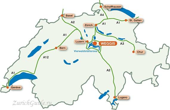 Weggis-3 Веггис (Weggis), Швейцария, в окрестностях Люцерна - путеводитель по городу. Достопримечательности. Что посмотреть, как добраться, как сэкономить