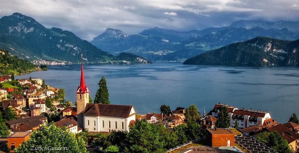 Weggis Веггис (Weggis), Швейцария, в окрестностях Люцерна - путеводитель по городу. Достопримечательности. Что посмотреть, как добраться, как сэкономить