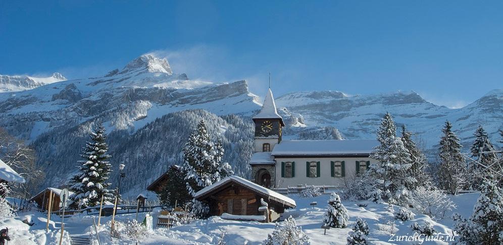 Les Diablerets-1 Горнолыжный курорт Ле Диаблере (Les Diablerets) - как добраться из аэропорта - расписание, цены. Ски-пассы Glacier 3000. Подвесной мост и Tissot Walk