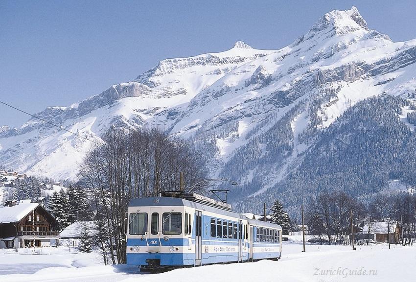 Les Diablerets-10 Горнолыжный курорт Ле Диаблере (Les Diablerets) - как добраться из аэропорта - расписание, цены. Ски-пассы Glacier 3000. Подвесной мост и Tissot Walk