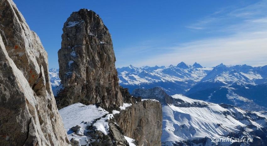 Les Diablerets-3 Горнолыжный курорт Ле Диаблере (Les Diablerets) - как добраться из аэропорта - расписание, цены. Ски-пассы Glacier 3000. Подвесной мост и Tissot Walk