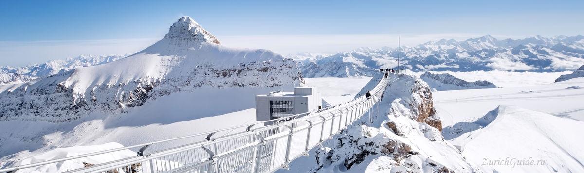 Les Diablerets-6 Горнолыжный курорт Ле Диаблере (Les Diablerets) - как добраться из аэропорта - расписание, цены. Ски-пассы Glacier 3000. Подвесной мост и Tissot Walk