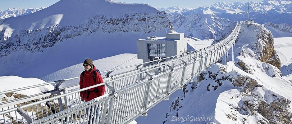 Les Diablerets-7 Горнолыжный курорт Ле Диаблере (Les Diablerets) - как добраться из аэропорта - расписание, цены. Ски-пассы Glacier 3000. Подвесной мост и Tissot Walk