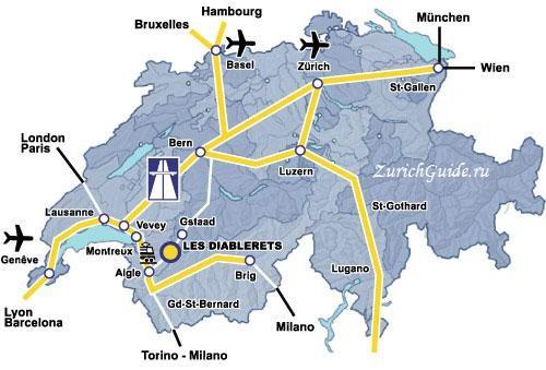 Les Diablerets-9 Горнолыжный курорт Ле Диаблере (Les Diablerets) - как добраться из аэропорта - расписание, цены. Ски-пассы Glacier 3000. Подвесной мост и Tissot Walk
