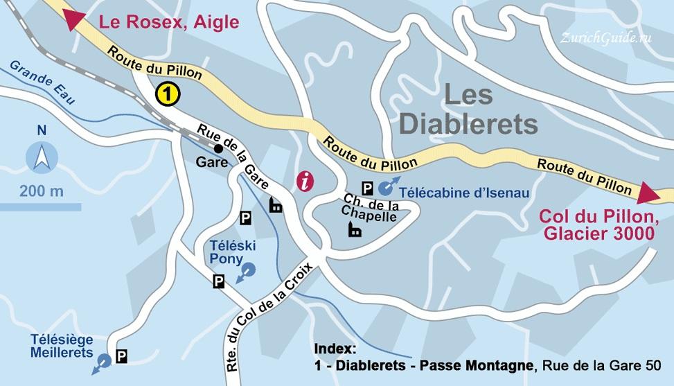 Les Diablerets-sji-rental Горнолыжный курорт Ле Диаблере (Les Diablerets) - как добраться из аэропорта - расписание, цены. Ски-пассы Glacier 3000. Подвесной мост и Tissot Walk