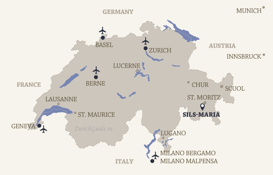 Sils Maria location map