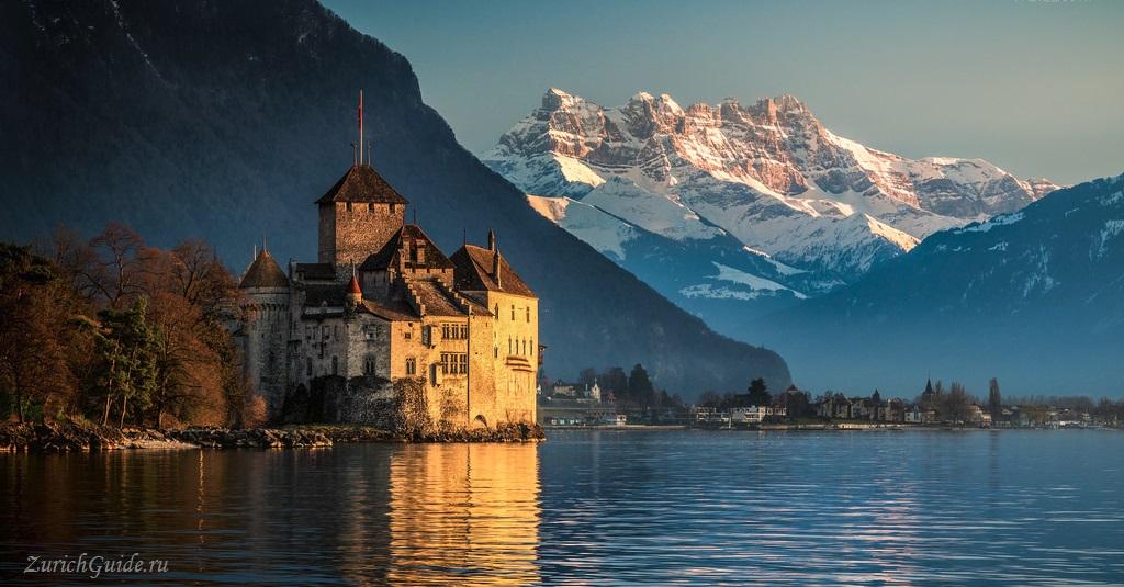 20 главных достопримечательностей Швейцарии Chateau de Chillon Montreux Sqitzerland 20 best sights of Switzerland