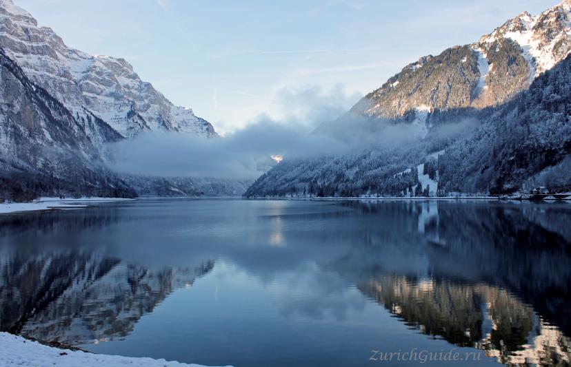 Озеро Клёнталер-Зее (Klöntalersee) или Клёнтальское озеро