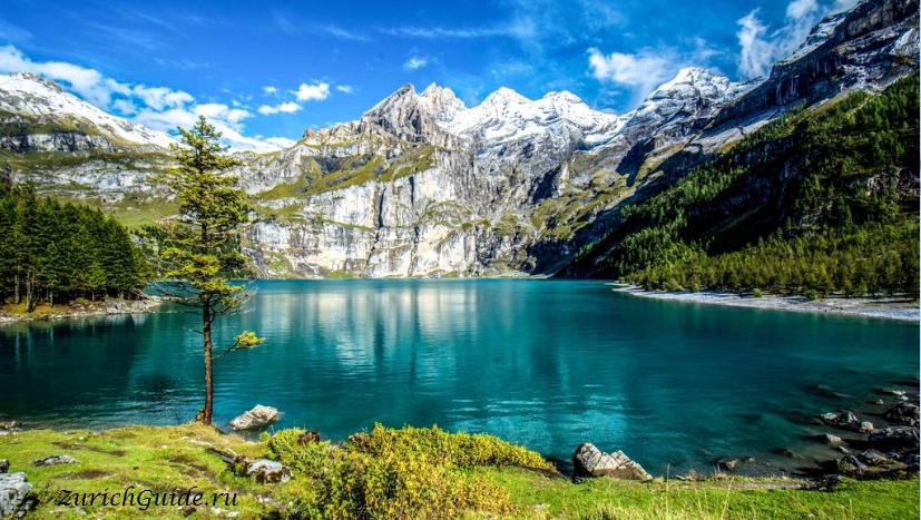 Кандерштег (Kandersteg), Швейцария - Oeschinensee, Switzerland, travel guide